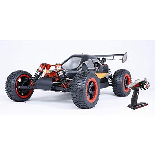 LOSA 4WD RC Buggy Gasolina, 1/5 de Coches de Juguete de Gas Off Road con Motor de 45 CC de Gasolina para Adultos, 2.4G regulador de Radio Incluyó