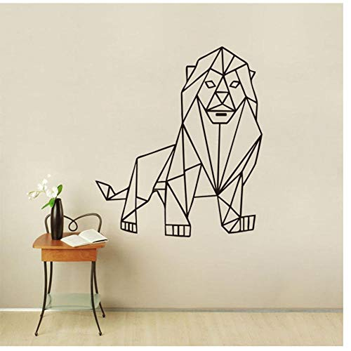 Lion Umriss Geometrische Wandaufkleber Wohnkultur Tiere Wohnzimmer Vinyl Aufkleber Wandaufkleber Für Baby Room Boy Wandbild