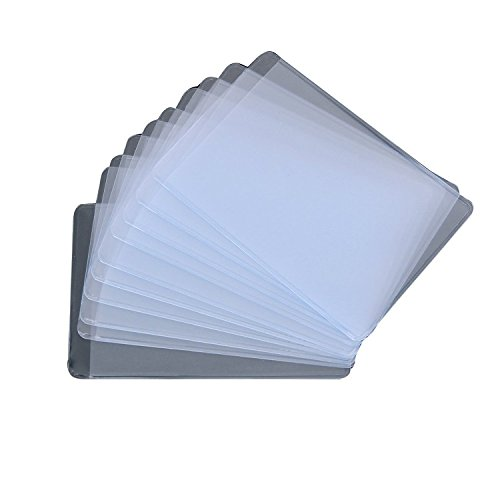 BeeSpring Click Down 10Pcs ID Cards Soft Clear Plastic Card Sleeves Protectors
