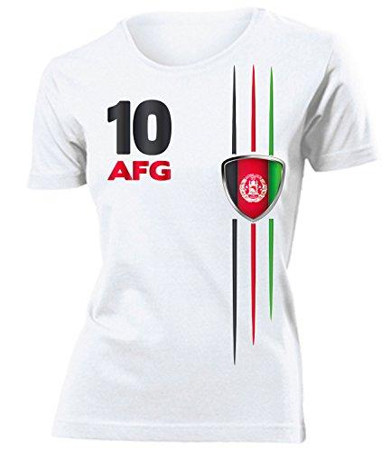 Afghanistan Fanshirt Fussball Fußball Trikot Look Jersey Damen Frauen t Shirt Tshirt t-Shirt Fan Fanartikel Outfit Bekleidung Oberteil Hemd Artikel