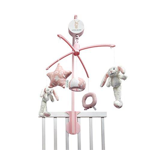 LITTLE DUTCH 4637 Mobile Hase inkl. Spieluhr und Halter adventure pink