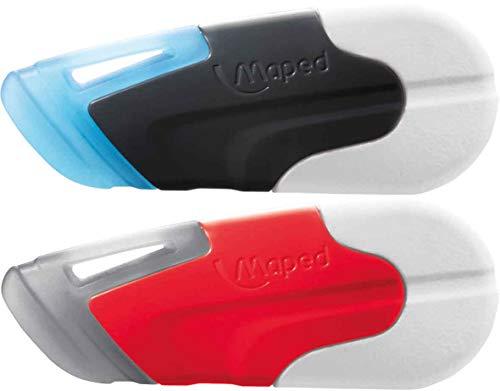 Maped - Radierer TECNIC DUO NEW GENERATION - weiße Seite für Bleistifte, blaue Seite für wärmeempfindliche Tinte (Zauberstifte/ Frixion)