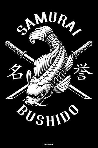 Samurai Bushido Notebook: Koi Carp Fish Journal Japan Oriental Composition Book Zen Koi Pond Gift
