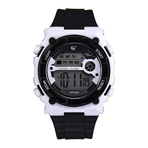 s Mens WatchUnisex WeekenderWatch [Negro], Casual Moda Hombre Estudiante Reloj Correa de silicona Reloj de pulsera impermeable Reloj deportivo Reloj S-Mart Moda SmartwatchesWomen