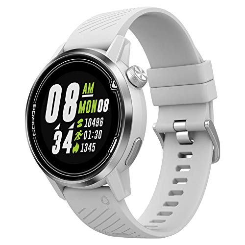 Coros APEX Premium Multisport GPS Watch with Heart Rate Monitor, 25h Full GPS Battery, Sapphire Glass, Barometer, ANT+ & BLE Connections, Strava & Training Peaks (White/Sliver|42mm)
