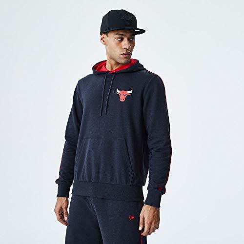 New Era NBA CHICAGO BULLS Piping Hoodie Pullover, Größe:XL