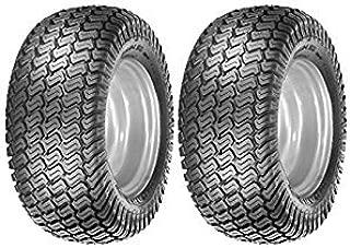 MowerPartsGroup (2) 15x6.00-6 Turf Tires 4 Ply Grassmaster Tread