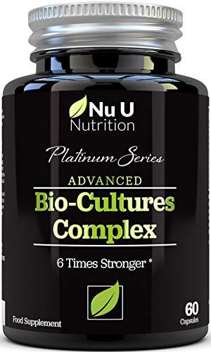 Bio-Cultures 5 Active Strains 60 Billion CFU Source Powder | 6 Times Stronger - 6 Billion Live CFUs | Multi Strain with Lactobacillus Acidophilus & Bifidobacterium for Adults | 60 Vegetarian Capsules