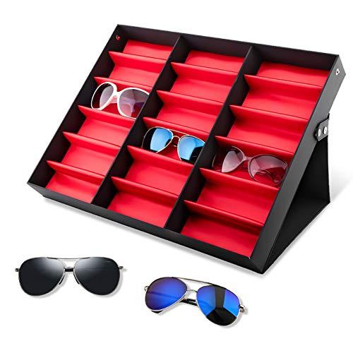 Glasses Display Stand, 18 Grids Eyeglasses Storage Box, Glasses Jewellery...