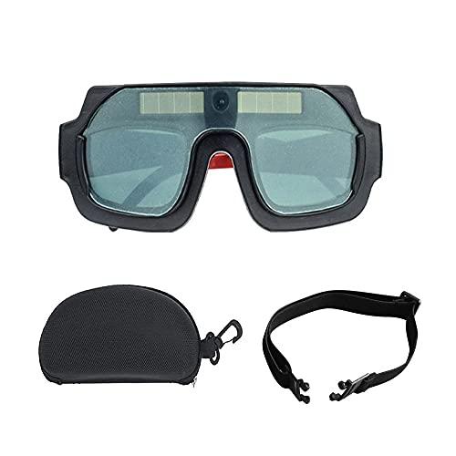 Gafas de soldador - Gafas de soldar con oscurecimiento automático solar, Protector de soldadura de lente de arco ajustable para PC