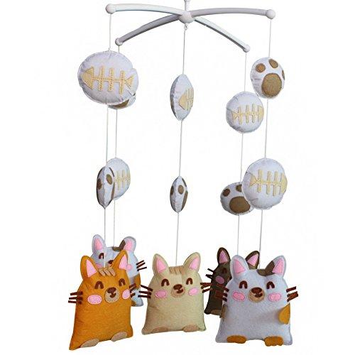 Berceau de lit de bébé rotatif coloré jouets de bébé [Beau chat]