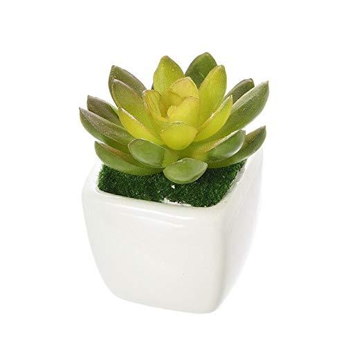 WINOMO Plantes d/écoratives officinales Succulentes plantes succulentes artificielles fausses avec pot gris