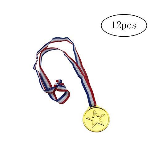Newin star 12 PCS Enfants Winners Or MÉDAILLES Creative Plastique pour la Journée des Sports pour Enfants Kids Party Jeu Récompenses Cadeaux Jouets
