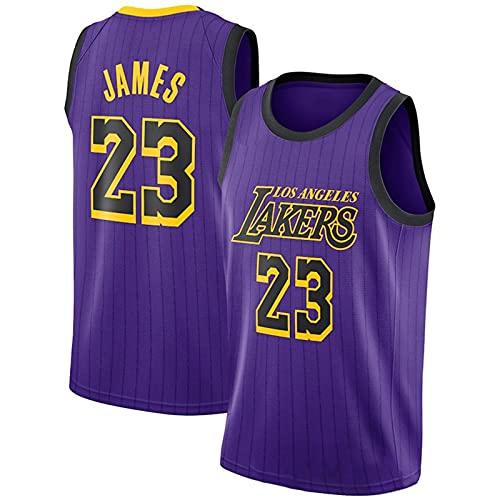 GQTYBZ Camiseta de Baloncesto de la NBA, Lakers # 23 Lebron James Uniforme De Aficionado Al Baloncesto Camiseta con Chaleco De Tela Transpirable Fresca, Camiseta Deportiva Sin Mangas Unisex