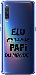 ZOKKO Case for Xiaomi MI 9 Elu Meilleur Papi du Monde Soft Transparent Ink Black