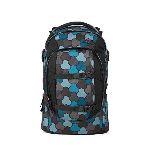 satch Pack Ocean Flow, ergonomischer Schulrucksack, 30 Liter, Organisationstalent, Grau/Schwarz