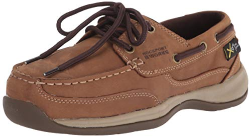 Rockport Work Women's Sailing Club RK634 Industrial and Construction Shoe, Brown, 9.5 M US