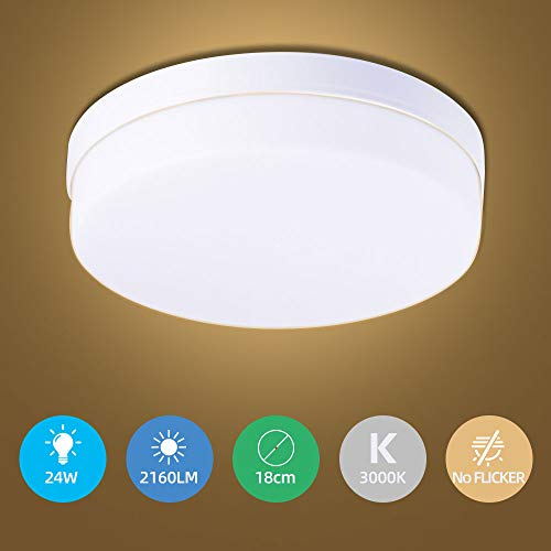 Sararoom Plafondlamp, led-plafondlamp, led-plafondlamp, led-paneel voor badkamer, slaapkamer, keuken, balkon, gang, kantoor, woonkamer