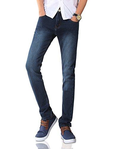 Demon&Hunter Men's Blue Skinny Fit Stretch Jeans S8048(29)