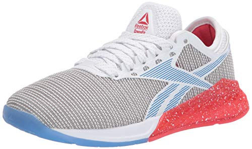 Reebok - Zapatillas de CrossFit Nano 9 para mujer, Blanco (Blanco/Rojo Radiante/Azul Blast), 35 EU