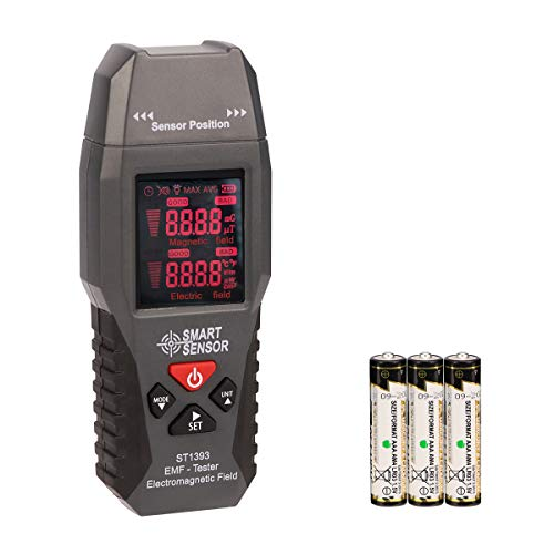 EMF Meter KKmeter Electromagnetic Field Radiation Detector with Digital LCD Color Screen for 20~3500MHz Home Appliances