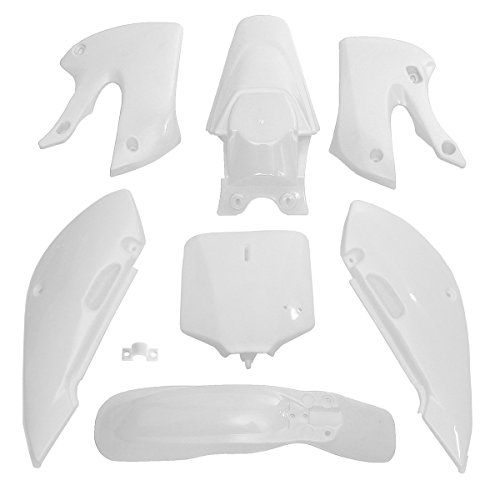 Viviance Guardabarros Kit De Carenado De Plásticos para Kawasaki Klx 110 Kx65 110Cc Pit Dirt Bike Drz110 - Blanco