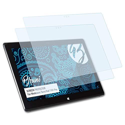 Bruni Schutzfolie kompatibel mit Wortmann Terra Pad 1161 Pro Folie, glasklare Bildschirmschutzfolie (2X)
