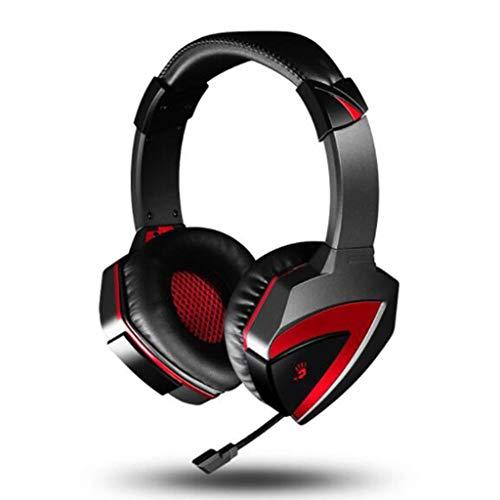 Ruisonderdrukking Ruisonderdrukking Surround Sound Gaming Hoofdtelefoon, Comfortabele 7.1 Gaming Headset Geïntegreerde USB Interface Controle Mic Zero Oor Druk Mute & Volume Controle Duurzaam, All-Platform G