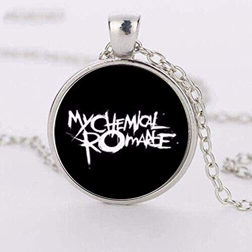 BACKZY MXJP Halskette Herren Halskette New Crystal Halskette Bild Rock Band My Chemical Romance Zinklegierung Glas Anhänger Halsketten Halsketten Für Frauen
