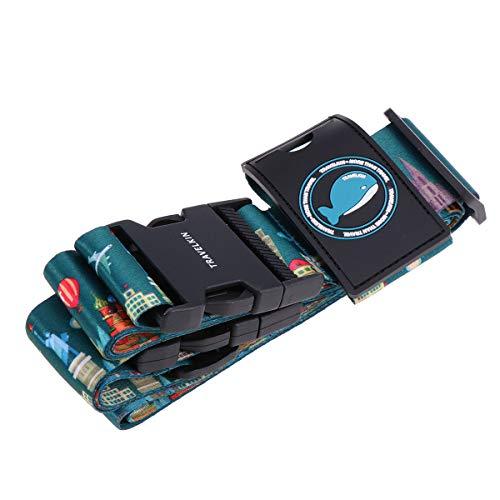LIOOBO 1 STÜCK Einstellbare Kreuz Reisegepäckgurt Verpackungsgurte Koffer Tasche Sicherheitsgurte Reise Um Die Welt Muster