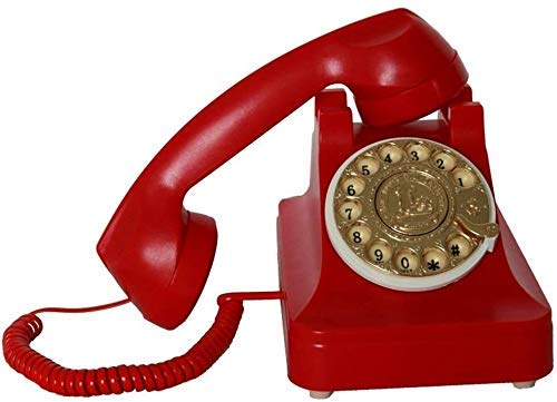 YUBIN Teléfono Teléfono Inicio Teléfonos Antiguos para teléfono Fijo Teléfono Línea Fija Teléfono Retro Teléfono Antiguo Teléfono Teléfono Inicio (Color: Rojo) (Color : Red)