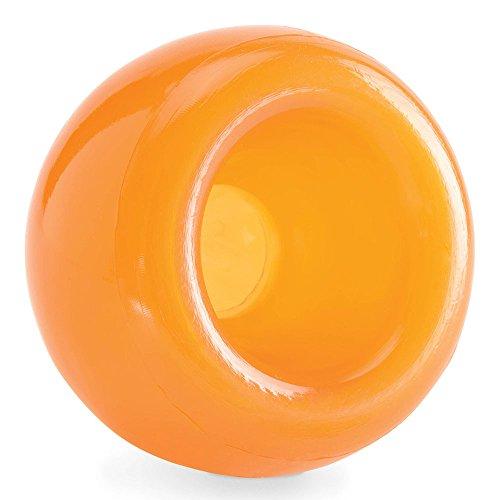Planet Dog Orbee-Tuff Snoop - Dispensador de recompensas con forma de bola - Rompecabezas interactivo para perros - Naranja - Grande