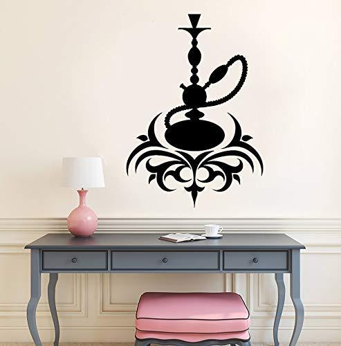 Vinyl Applique Arabische Kultur Zimmer Rauchen Shisha Rauchen Shisha Kaffee Lounge Bar Wanddekoration Wandaufkleber Wandaufkleber 30X42 Cm