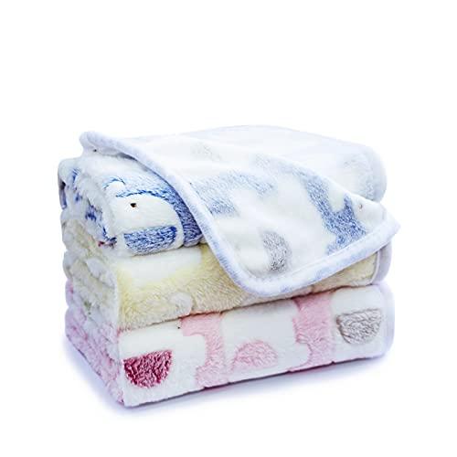 "Yizhi Miaow 1 Pack 3 Colors 23"" x 15.5"" Small Blanket Soft Warm Fleece Throw Blanket Pet Kitten Blanket Fleece Puppy Blanket Cushion Ultra Light Comfortable Soft Warm Sleep Mat Review"
