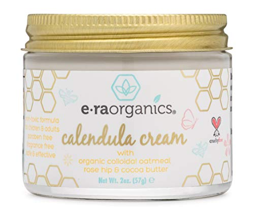 Era Organics Calendula Rash & Baby Acne Cream – Extra Soothing Moisturizing Cream For Sensitive Skin Prone to Baby Eczema, Cradle Cap, Baby Rashes, Hives W/ Rosemary, Zinc Oxide & More