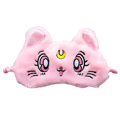 Lankater 4D Cat Schlafmaske Natürlicher Schlaf Nette Augenmaske Eyeshade Abdeckung Schatten-Augen-Flecke Für Mädchen-Frauen Weiche Bewegliche Blindfold Reisen Eyepatch