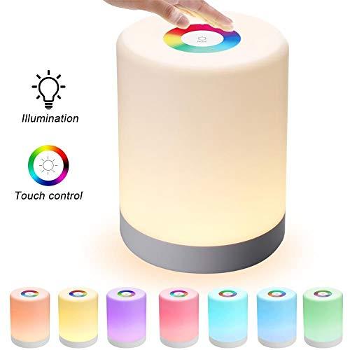 Led Touch Control Nachtlampje Inductie Dimmer Lamp Smart Nachtlamp Dimbaar Rgb Kleurwissel Oplaadbaar Smart