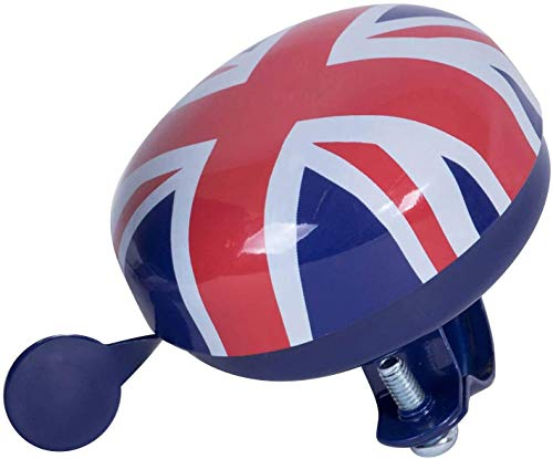 Kiddimoto-Fingerless Cycling Glove & Bell(Union Jack/Small) | Prefect for for Bike, Scooter & Skateboard | Ideal for Boys and Girls | Available in Different Colourful Designs & Sizes