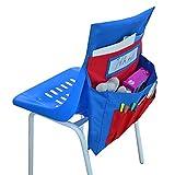 チェアバック 椅子ポケット 学校 教室 椅子背もたれオーガナイザー 子供用 シートバック 収納ポケット 自宅 学校用品 収納バッグ シートバックポケット 小物入れ 大容量 折り畳み式 取り付け簡単 ポケットオーガナイザー