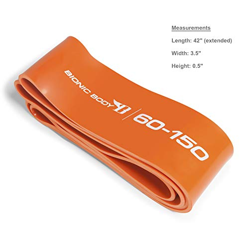 Bionic Body Assorted Resistance Loop Bands Fitness Bands for Power Lifting Strength Training Home Gym and Cardio Exercise, Orange - 60 to 150 lbs. (Single)