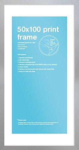 GB Eye LTD, Argento, 50x100cm - Eton, Cornice, plastica