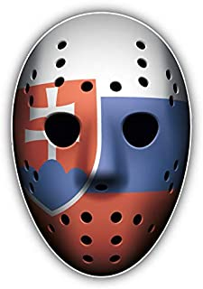 KW Vinyl Magnet Slovakia Flag Ice Hockey Goalie Mask Truck Car Magnet Bumper Sticker Magnetic 5