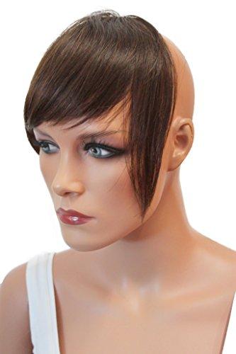PRETTYSHOP 100% ECHTHAAR Pony Haarteil Haarverdichtung Haarverlängerung Dunkelbraun H313f