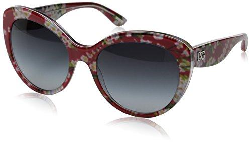 Dolce & Gabbana Gafas de Sol DG4236 ALMOND FLOWERS RED PEACH FLOWERS - GREY GRADIENT