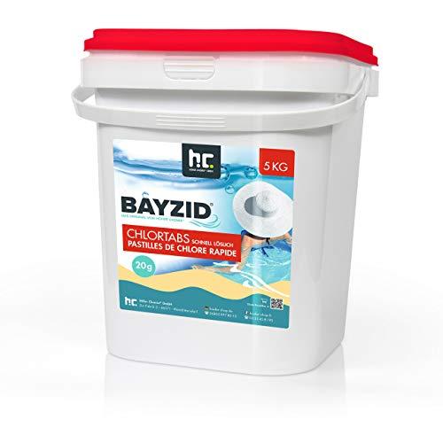 5 kg HOCHEFFEKTIVE Pool Chlor Tabletten 20g BAYZID schnell löslich mit 56% Aktivchlorgehalt für Pool & Schwimmbad von Höfer Chemie