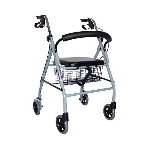 Mobiclinic Andador para Ancianos de 4 Ruedas | Rollator Deluxe Plegable |...
