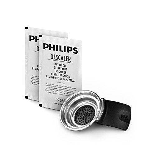 Philips Senseo CA6514/02 Pflegeset Entkalker und Kaffeepadhalter, für Senseo Original Maschinen, 2 Tassen