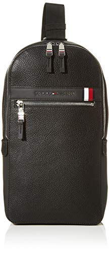 Tommy Hilfiger heren Th Downtown Slingpack business tas, zwart (black), 1x1x1 cm