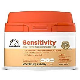 Amazon Brand – Mama Bear Sensitivity Milk-Based Powder Infant Formula with Iron, 22.5 Ounces
