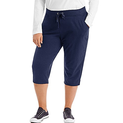 JUST MY SIZE French Terry Women's Capris Navy